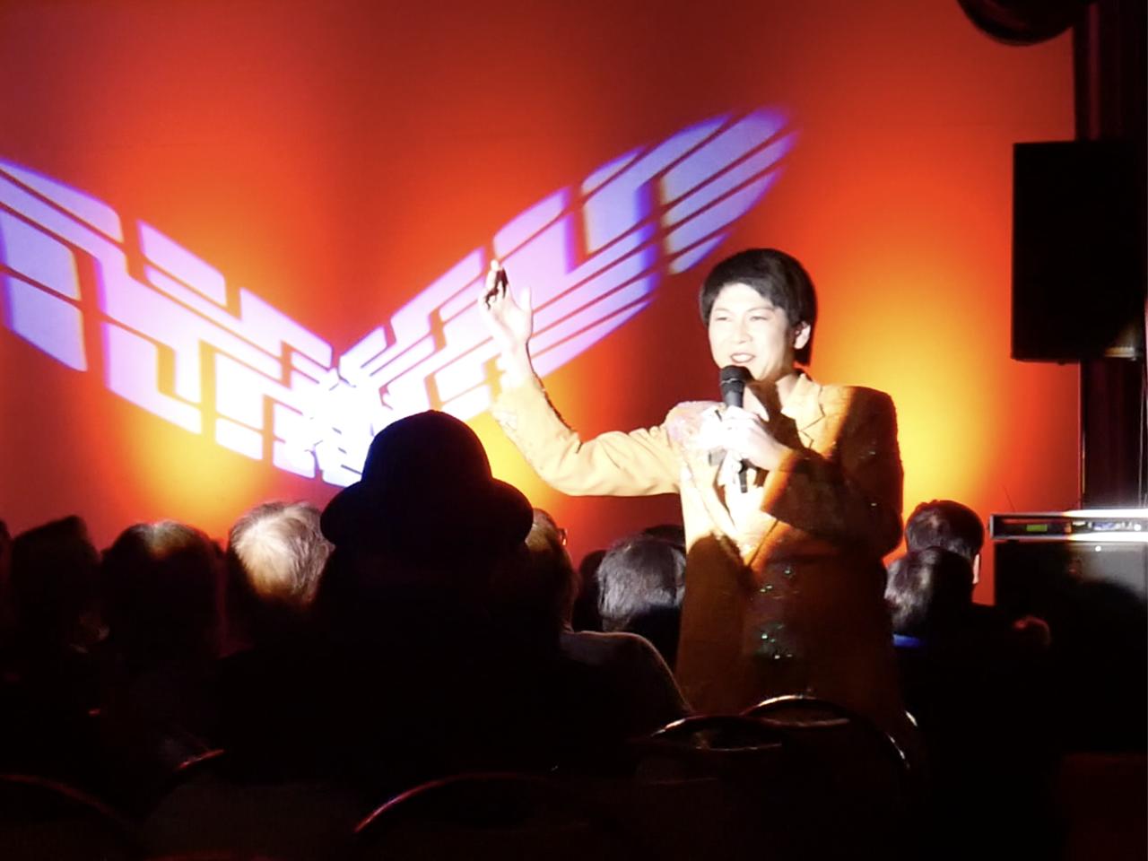 丸峰笑タイム 雪の会津でアツいステージ、たくさんのご来場に感謝よ!