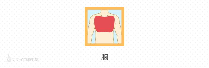 胸(胸毛)