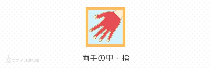 両手の甲・指