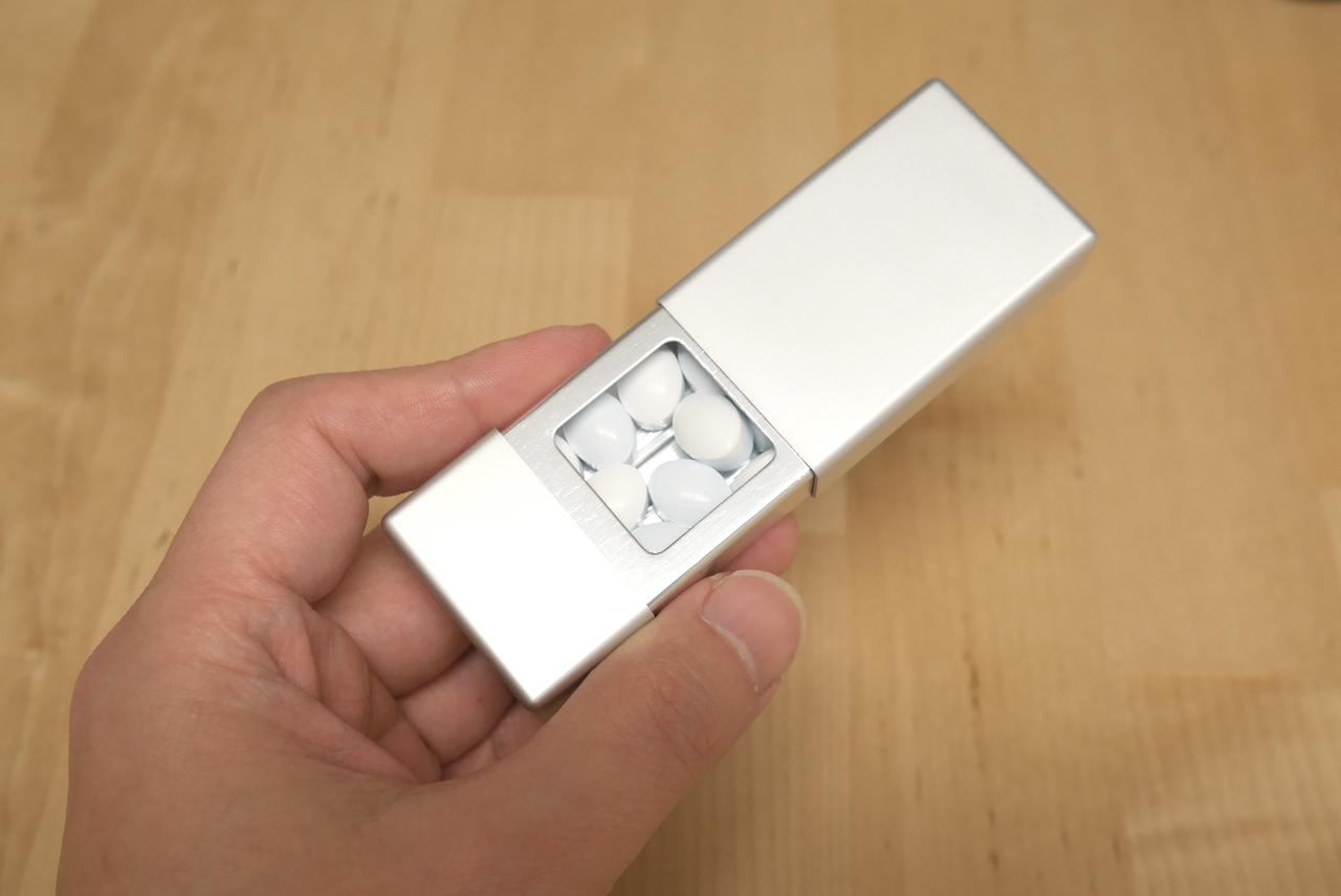無印良品 携帯灰皿がミントタブレットケースにぴったり