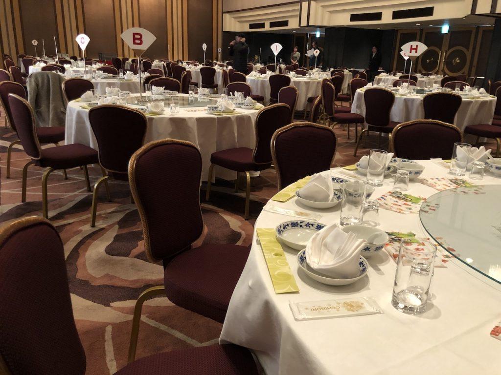 テーブルセッティングも丁寧でした|横浜ローズホテル